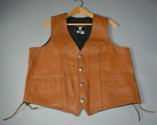 S.P. Leather Brown Leather Vest - Lace Up Sides - Size M*