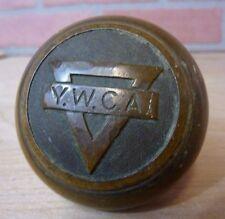 Antique Bronze YWCA Door Knob embossed design Young Women's Christian Assn