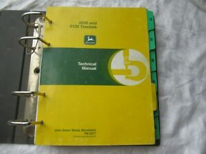 John Deere 3030 3130 tractor repair service technical manual h/c binder TM-4277