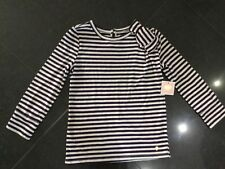 NWT Juicy Couture New Purple 3/4 Sleeved Cotton T-Shirt With Logo Girls Age 10