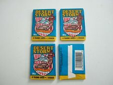"""1991 Desert Storm """"Coalition For Peace"""" Trading Cards-5 Unopened Packs"""