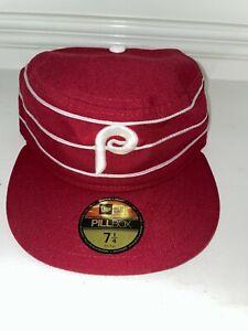 NWT New Era 2016 TBTC 1976 Philadelphia Phillies Pillbox On Field Cap Hat 7 1/4