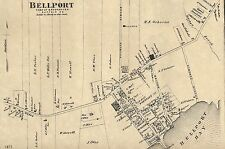 Bellport East Moriches Manorville Moriches NY 1873  Maps  Homeowners Names Shown