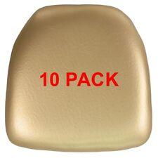 10 Pack Hard Gold Vinyl Chiavari Chair Seat Cushion For Resin Chiavari Chairs