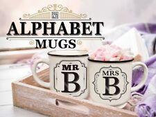Alphabet Mug Mr / Mrs / Miss Anniversary Wedding Birthday Gift - Stoneware Mugs