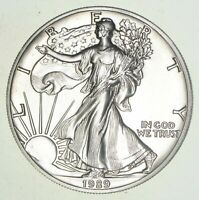 Brilliant Uncirculated  1989 American Silver Eagle 1 Troy Oz .999 BU Unc
