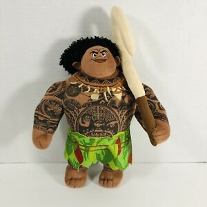 "Disney Moana Maui Plush Soft Doll Stuffed Tattooed DemiGod 9"""