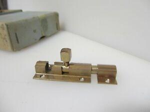 "Vintage Bronze Door Lock Sliding Bolt Old Retro 1970's Brass(New old stock)2.75"""