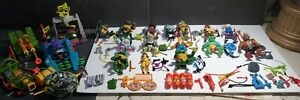 Big Lot Vintage Action Figures TMNT TEENAGE MUTANT NINJA TURTLES & ACCESSORIES!