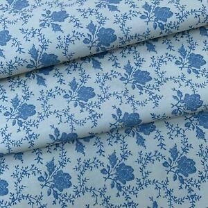 Rose & Hubble 100% Cotton Fabric - Cream with Delph Rose CP0120 UK SELLER