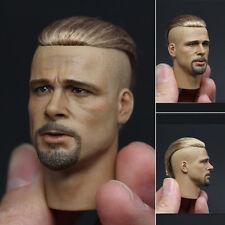 1/6 figure Fury Brad Pitt HEADPLAY blond Small cloth head carvin actor star