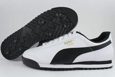 2b99717c8716 PUMA Men s Roma Fashion Sneaker White black Leather Size 10 Shoes Walk  Running