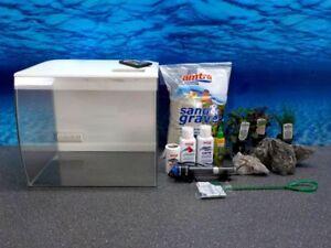 Fluval Flex 34l Nano Aquarium Blanc Aquarium Complet Inclus Décoration+ RGB