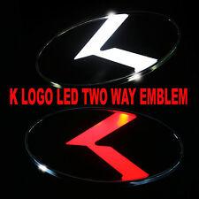 2 Way White & Red LED K Logo Emblem Badges Rear for Kia Forte 2011-2015 NEW