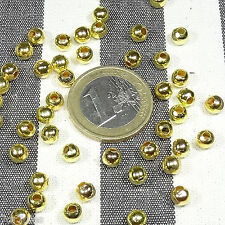 240 Perline Palline 5mm  T252C  D'oro Round Golden D'or ЗОЛОТОЙ ΧΡΥΣΑΦΈΝΙΟΣ