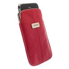 KRUSELL LUNA LEATHER POUCH LARGE RED SAND iPHONE 4
