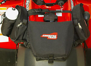 American Trails ATV Tank Saddle Bag Black Four Wheeler Luggage Fender Pack Case