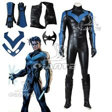 "Batman:Arkham City Night Wing Cosplay Costume ""Dick"" Grayson Jumpsuit Customized"