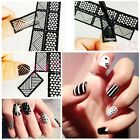 New Reusable Stamping Tool Vinyls Nail Art Template Stickers Stamp Stencil Guide