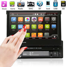 "Single 1DIN 7"" Touch Screen Bluetooth Car Stereo Radio MP5 MP3 Player FM/AMUSB"