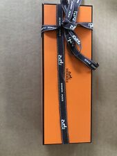 Authentic 100% Hermes Empty Gift Box For Accessories w/Paper & Ribbon 10x3.5x1.5