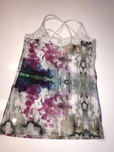 LULULEMON...Splatter Print Strappy Tank... Cotton Blend..Sz 6