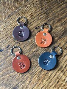 Monogram Keyring/Leather keyring/personalised keyring/Bespoke keyring