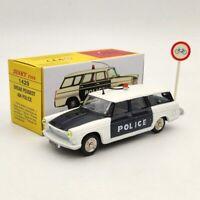 1:43 Atlas Dinky toys 1429 BREAK PEUGEOT 404 POLICE Miniatures Diecast Used