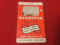 Vintage Packet of (20) John English & Co. Windopak Needles