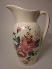 """ROYAL COPLEY Vintage Decal Pitcher Gold Stamp Pink Roses 40's Art Deco 6 1/4"""""""