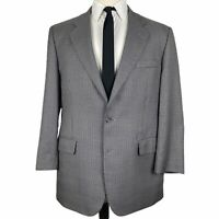 Brooks Brothers 346 Sport Coat 42R Gray Black Houndstooth Silk Wool 2 Button