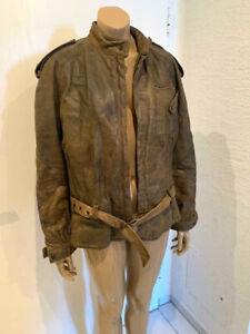 Vintage Herren Leder Biker Jacke von Liverpool braun in GR. 50 - 1A Zustand!