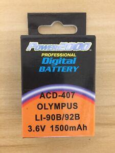 Power2000  Li-90B Li-92B Rechargeable Battery for Olympus ACD-407