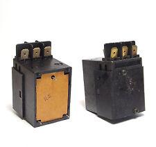 2x CR/DG 12 relè, 24 VDC BOBINA, 3x un (TRIFASE), 16a/220v, 10a/380v, NOS
