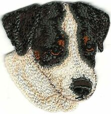 """2"""" x 2"""" Jack Russell Terrier Dog Breed Portrait Embroidery Patch"""