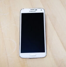 Samsung Galaxy S5 Verizon Smartphone White As-Is/Cracked Screen (See Photos)