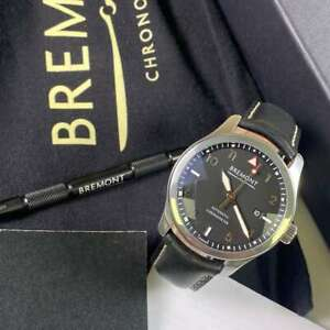 Bremont Solo 2021 Model Black Dial Leather Strap - PX & Finance Available