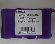 Bombax 4,8V/2500mAh SubC NiCd F4x1 4er Reihe Graupner Empfänger