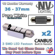 VW Passat B5.5 B6 Xenon White LED Number Plate Lights - Error Free 36mm canbus