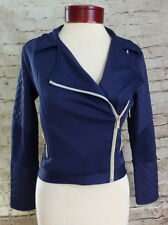 Sean John Navy Blue Bomber Jacket Girls Juniors Size Large