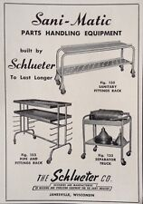 1952 AD(XC1)~THE SCHLUCTER CO. JANESVILLE, WISC. STERILIZING DAIRY EQUIPMENT