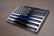 (1) THIN BLUE LINE AMERICAN FLAG POLICE 3D EMBLEM STICKER BADGE LOGO DECAL