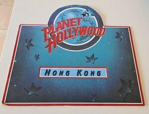 1990's PLANET HOLLYWOOD HONG KONG Fold-Out Restaurant MENU - Good Condition