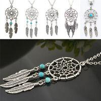 Fantatstic Dream Catcher Feather Pendant Necklace Pretty Retro Chain Necklace