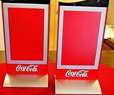 TWO COCA COLA STAND UP MAGNETIC TABLE TOP MENU FLIP UP FRAME. PLEXIGLASS... NICE