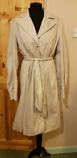 FIT AND FLARED Trench Coat Size 12 H&M cotton mac light grey