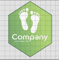 Fertiges Firmenlogo,Template #034 Vektorgrafik, Company Logo, Green, Podologe