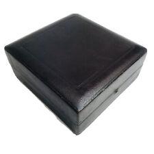 Leather Textured Gift Box w/ Velvet & Satin Interior Momento Jewelry Storage