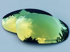 ENGRAVED POLARIZED 24k GOLD CUSTOM MIRRORED REPLACEMENT OAKLEY JULIET LENSES