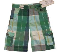 NEU TOM TAILOR Cargo Bermudas Shorts kurze Hose Karo kariert grün weiß grau 116
